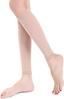 Song Qing Women Medical Calf Compression Stockings 30-40 mmHg Knee High Socks for Pregnancy Sports Travel Varicose Socks (Beige)