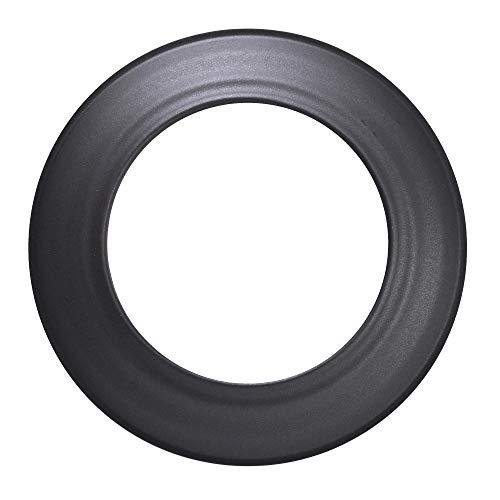 FIREFIX R120/R kachelpijprozet voor 2 mm dikke kachelpijpen/rookpijpen in 120 mm diameter, voor kachels en haarden, Senotherm, zwart, stijf