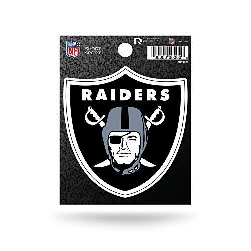 Rico Industries NFL Oakland Raiders Die Cut Team Logo Short Sport Sticker