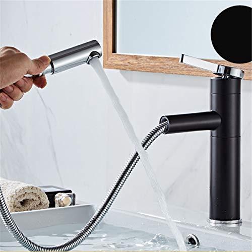 Marginf - Grifo monomando para lavabo de cocina con una sola manija extraíble para fregadero de agua fría y caliente