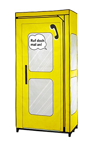 WENKO Kleiderschrank Telefonzelle Deutschland, Polypropylen, 75 x 160 x 45 cm, Mehrfarbig