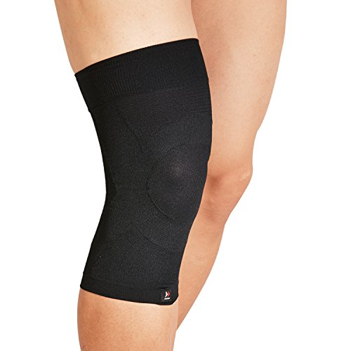 ZAMST Low Profile Knee Brace by BODYMATE for Knee Support in Volleyball, Running, and More, S - LL Size for both Right and Left Knee, Black