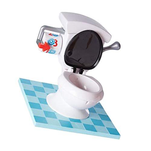 F Fityle Juegos Divertidos para Inodoro para Juegos, Efectos de Sonido de Descarga Realistas, Juego para Niños, Rociador de Agua para Mayores de 4 años