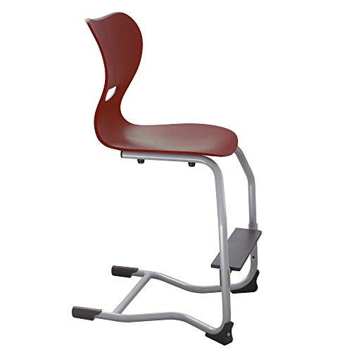 Einrichtwerk Mitwachsender ergonomischer Kinderstuhl, Hochstuhl, Jugendstuhl, Kinderschreibtischstuhl EWF.3, Made in Germany (rot)