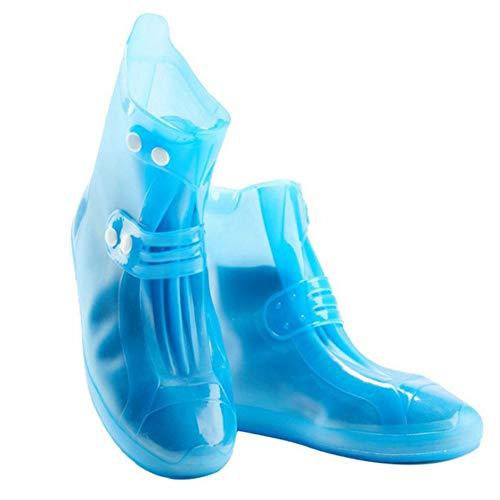 OOL wasserdichte REGT Boot Abdeckung, rutschfest Und Feuchtigkeitsdichte Schuhe, Wind- Und Wasserdicht Regen Boot-Schutzvorrichtung,Blau,XL