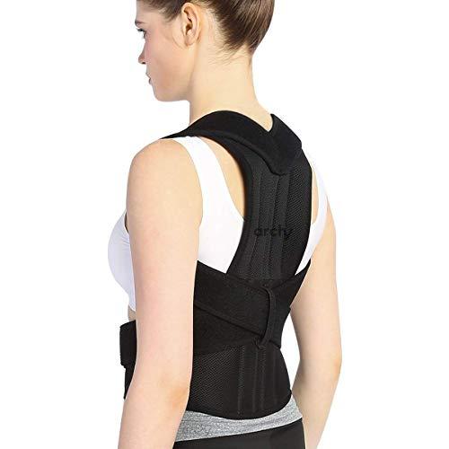 Archy Corrector de postura ajustable unisex faja fija postura endereza espalda y alivia dolor (10938) (2XL)