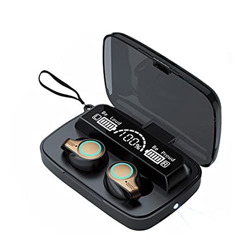 XCYG Auriculares Bluetooth de Deportes en el oído 5.1 Auriculares inalámbricos a Prueba de Agua de Bluetooth con función de la función de Banco de energía y la función de Linterna, 0.2kg.
