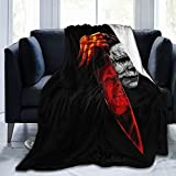 Michael Myers Blanket Bed Couch Living Room Soft Warm Lightweight Halloween Throw for All Seasons Kids and Adults 50'X40'