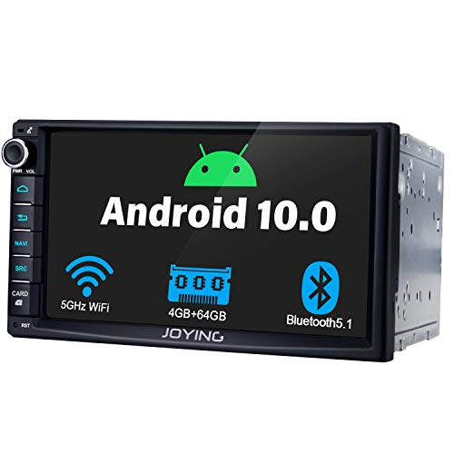 JOYING 7 Inch Touchscreen Double Din Car Stereo Android 10 Car Navigation in-Dash Car Audio Receiver Support Butoon 7-Color/4G SIM Card Slot/Android Auto/Zlink/DSP/SPDIF/FM Radio