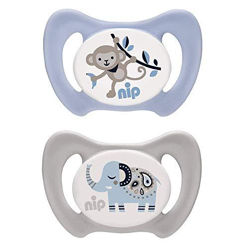 NIP Silikon Dentalschnuller Miss Denti Gr. 3 - mit Backenzähnchen ab 13 Mo + 2 Stk.
