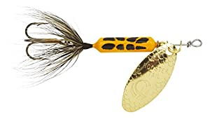 Yakima Bait Wordens Original Rooster Tail 1/4oz Spinner Lure, Yellow Coachdog