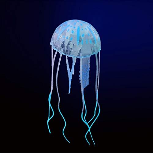 ELENXS Glowing Effet Artificiel méduse Poisson Aquarium Décor Mini Ornement sous-Marin