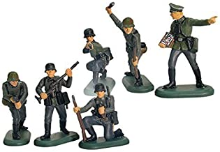 Britains Deetail Toy Soldiers WWII German Infantry 54mm Collectible Figures Set of 6 Plastic Figures on Metal Bases