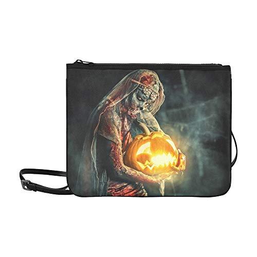 WYYWCY Halloween Scary Zombie Braut auf Nacht benutzerdefinierte hochwertige Nylon dünne Clutch Cross Body Bag Umhängetasche