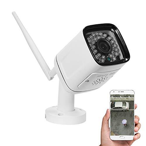 720P HD Bullet 1.0MP 30pcs Luces LED infrarrojas Cámara IP inalámbrica Resistente a la Intemperie Detección de Movimiento Monitor de visión Nocturna