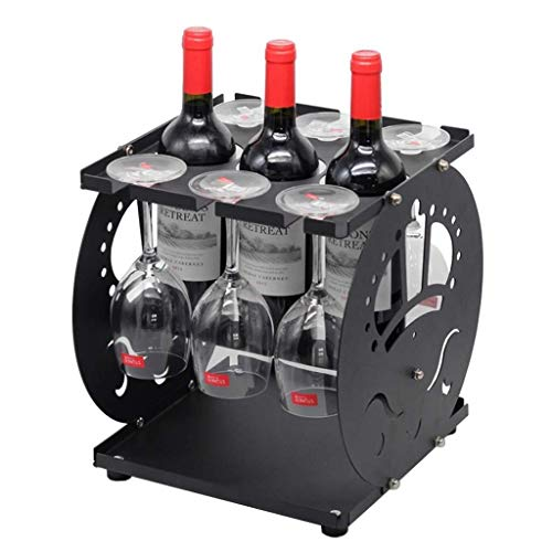 Estantería de vino Vino portavasos creativo europeo-2 capa puede girar independientemente de los bastidores contador de la barra de banquetes, copa de vino de almacenamiento, oro estante de vi