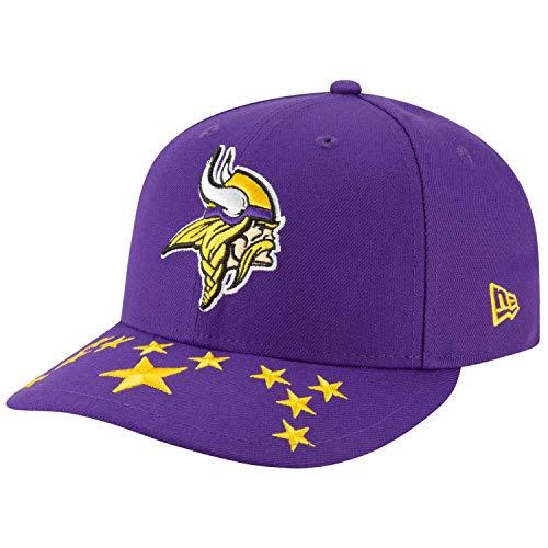 New Era Minnesota Vikings 59Fifty Fitted Hat NFL Football Flat Bill Baseball Caps 5950 (7 3/8, Purple NFL19 OFL)