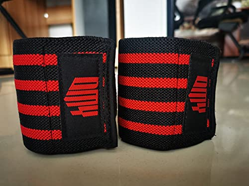 DMY Elbow Sleeve Wraps-Elbow Straps Brace For Support & Compression for Weightlifting Powerlifting Cross Training & Gym Workout,8 Inchs Velcro 1 Pair