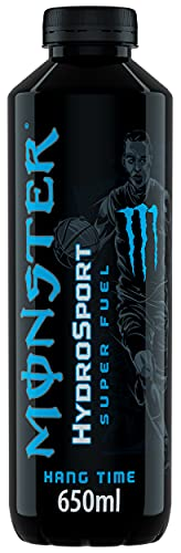 Monster HangTime HydroSport, Tropical Flavour Energy Drink, BCAA, Gas & Sugar Free, 650 ml