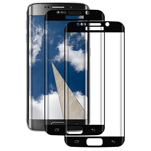 Aspiree Ecran Protection pour Samsung Galaxy S7 Edge, Lot de 2, Verre Trempé Dureté 9H, Anti-Rayure, Sans Bulles D'air, HD 99% Transparent