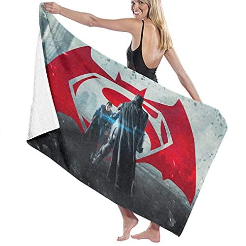 Bat-Man Vs Su-perman - Toalla de playa de microfibra, toalla de baño de secado rápido para viajes, natación, piscina, yoga, camping, gimnasio, deporte