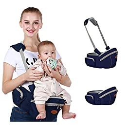 Baby Hip Seat Carrier Baby Waist Stool for Child Infant Toddler with Adjustable Strap Buckle Pocket Soft Inner Huge Storage