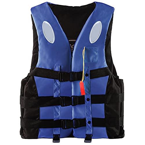 Chaleco Salvavidas para Adultos, Chaleco de Natación, Chaleco Reflectante de Ayuda a la Flotabilidad para Natación de 360 Grados con Silbato de Emergencia y Tiras Reflectantes para Nadar Canotaje
