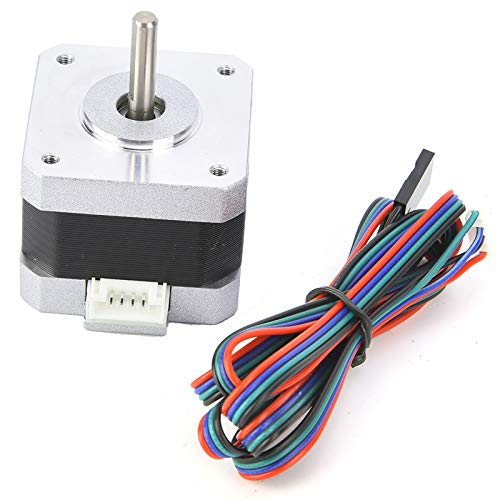 Nema17 Stepper Motor Bipolar with Connecting Cable for 3D Printer 2 Phase 320mN.m 1.8°Step Angle 34mm Height