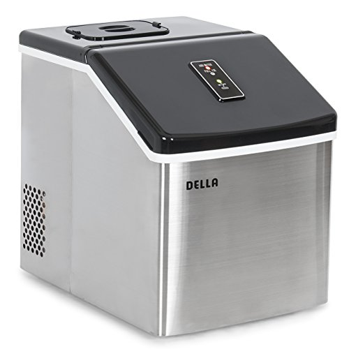 DELLA Stainless Steel Ice Maker Portable LCD Display 28...