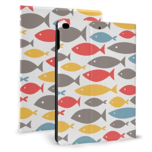 XiexHOME Cool iPad Case Small Swimming Colorful Fish Nuevo Estuche de iPad para iPad Mini 4 / Mini 5/2018 6th / 2017 5th / Air/Air 2 con Auto Wake/Sleep Magnetic iPad Mini Cover