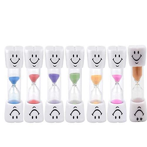 CHUTD Minuterie de Sable de sablier, minuterie d'horloge de Sable d'oeuf - Brosse à Dents - 3 Minutes Beau Temps de brossage des Dents Smiley (7 PCS)