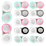 12Pcs Contact Lens Case Portable Color Contact Lenses Cases Eye Contacts Case Holder Container for Left/Right Eyes Durable Soak Storage Kit One Year Bulk Supply