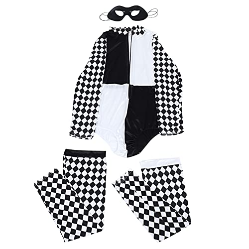 CLISPEED Disfraz de Beetlejuice de Halloween Corsé a Rayas Y para Mujer Vestido de Beetlejuice para Fiesta de Cosplay de Halloween