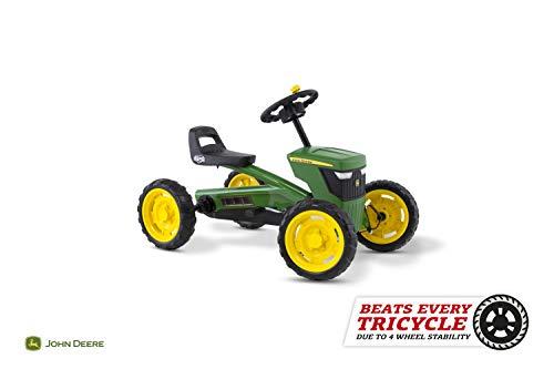 Berg Pedal Gokart Buzzy John Deere | Kinderfahrzeug, Tretauto, Sicherheid und Stabilität, Kinderspielzeug geeignet für Kinder im Alter von 2-5 Jahren