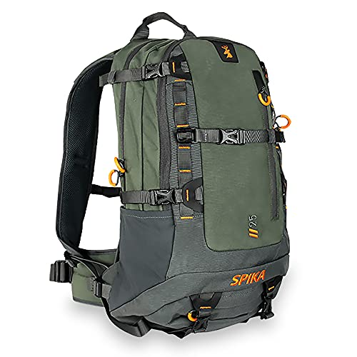 SPIKA Hunting Backpack Tactical Military Bags Waterproof Daypack for 25L Capacity with Water Bladder Removable Hip Belt