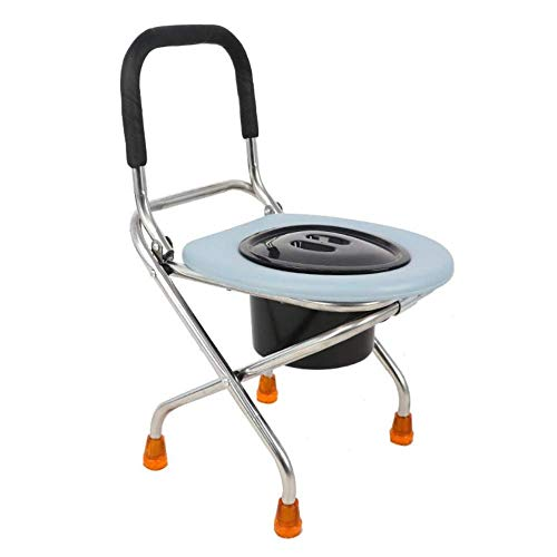 ZXY-NAN Bathroom Wheelchairs Commode Chair, with Bucket Toilet Stool Seat Lightweight Foldable Portable Mobile Toilet for Elderly Pregnant Woman - Bathroom Bedside Commode