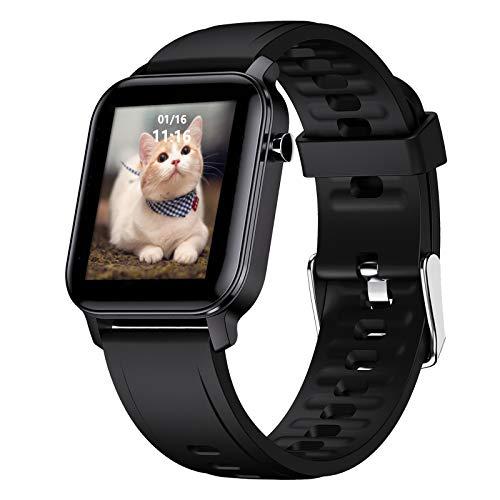 """LIGE Smartwatch para Hombre, Monitor de Pantalla Táctil de 1,4""""con Monitor de Frecuencia Cardíaca Oxígeno en la Sangre Respiración IP68 Resistente al Agua Reloj Inteligente para Android iOS"""