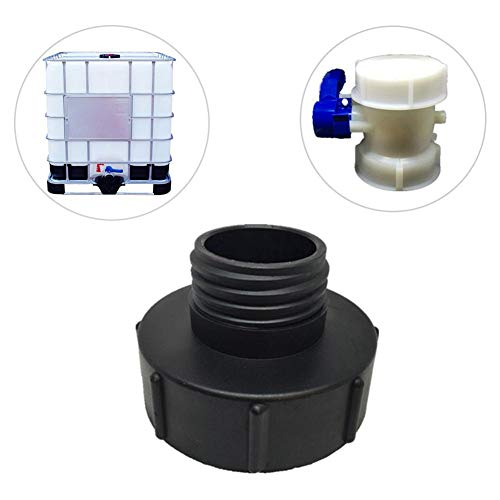 IBC Adapter Connector, Garden Hose Connectors Fittings Tools, S100x8 to S60x6 IBC Tank Connector Adapter Replacement Garden Watering Pipe Connector Black