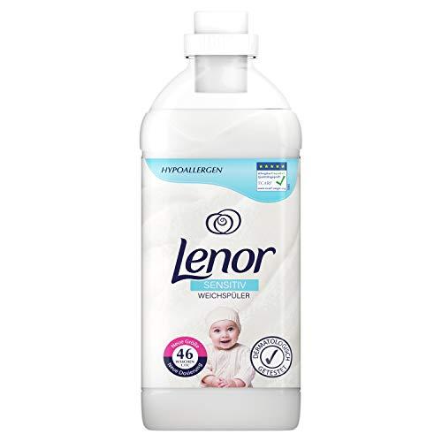 Lenor Weichspüler, Flauschige Wäsche mit Wäscheduft, 46 Waschladungen, Sensitiv für sensible Haut und Babyhaut(1.15 L)