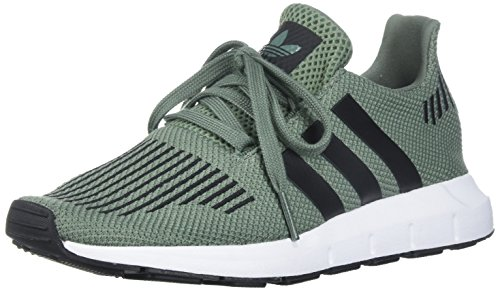 adidas Originals Boys' Swift J Running Shoe, Trace Green/Black/White, 5.5 M US Big Kid