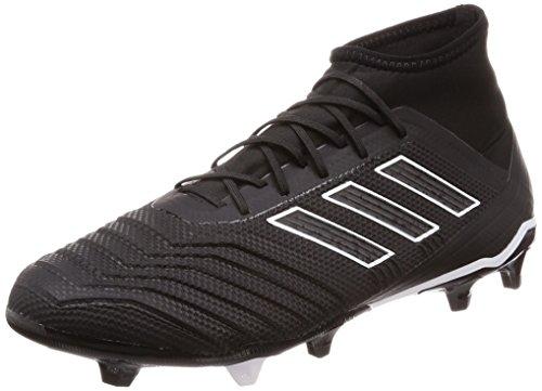 Adidas Predator 18.2 FG, Botas de fútbol Hombre, Negro (Negbás/Ftwbla 000), 41 1/3 EU