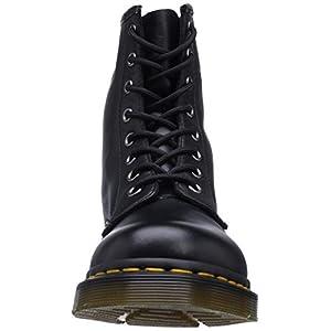 Dr. Martens mens 1460w Originals Eight-eye Lace-up Combat Boot, Black Nappa, 9 US
