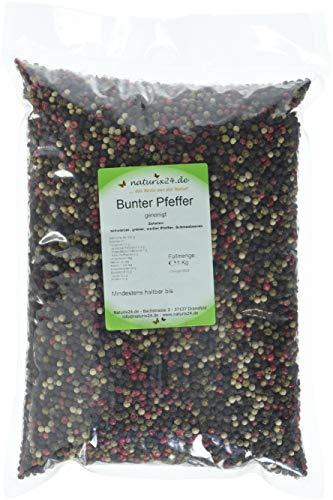Naturix24 Bunter Pfeffer ganz – Beutel, 1er Pack (1 x 1 kg)
