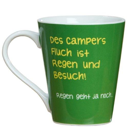 Gilde Tasse Porzellan Tasse Des Campers Fluch Wohnwagen grün Kaffeetasse Camper