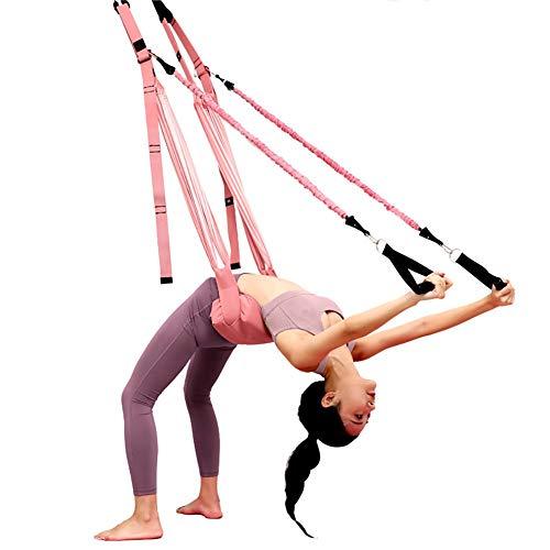 WOERD Correa de Yoga Aéreo El Yoga Antigravedad Hamaca Correa Volar Adjustable Leg Stretcher Back Bend Assist Trainer, Correa Ajustable de OscilacióN de la Puerta para YogaB