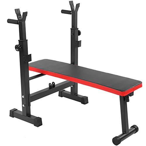Banco de pesas Banco de pesas multifuncional Banco de entrenamiento ajustable con soporte para pesas Banco inclinado plegable con pesas Press de banco plano Banco de fitness Banco de gimnasio Máquina