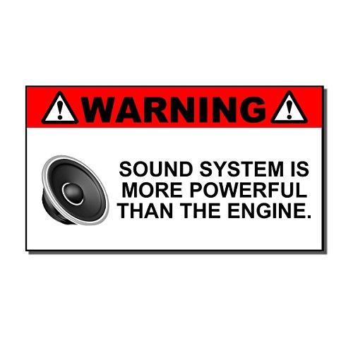 OwnTheAvenue Funny Sound System Warning Sticker Set Vinyl Decal Sub woofer JDM Car Woofer m39