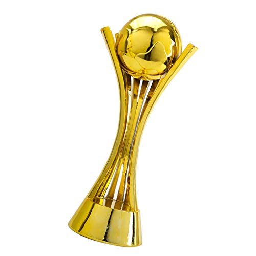 Regalos Trofeos Football Gold Trophy, Club World Cup - Trofeo réplica (14X18X42CM) Copa de Cristal