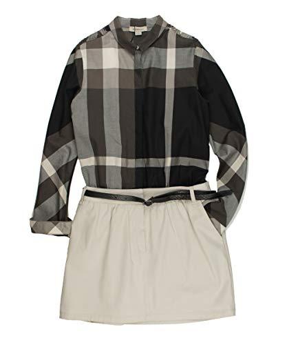 BURBERRY Kleid - Creme/braun, Größe:10 Jahre / 140