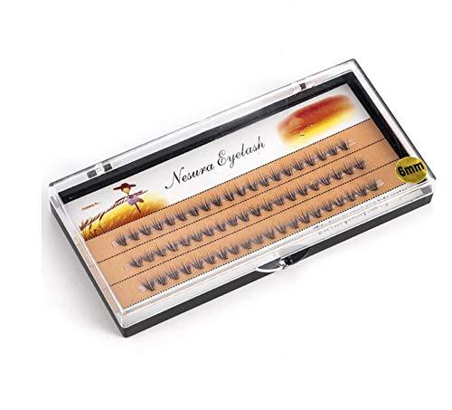 ZZDJ Faux Cils Maquillage 0,1 mm Faux Cils Cils Individuels Cils pour Professionnels Doux Greffe Greffe Extension de Cils 6 mm